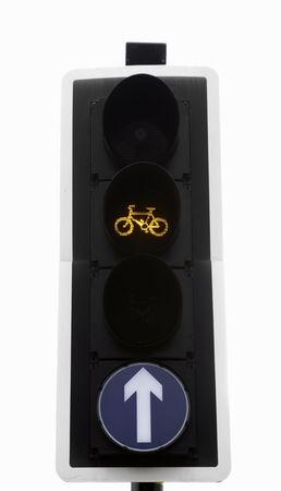 compulsory: Simple and clear sign or symbol telling motorists, cyclists or pedestrians where to go and what to do.