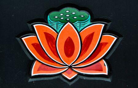 Buddhist temple lotus Stok Fotoğraf