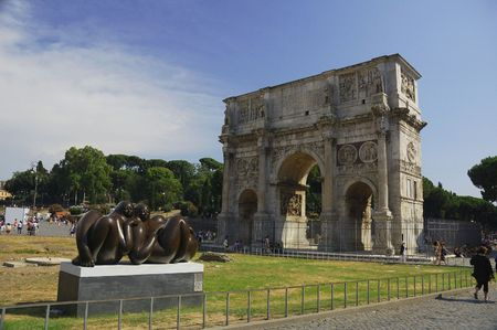 View to the Arch of Constantine Stock Photo - 7451487