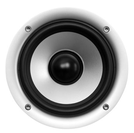 audio: speaker isolated on white background Stock Photo