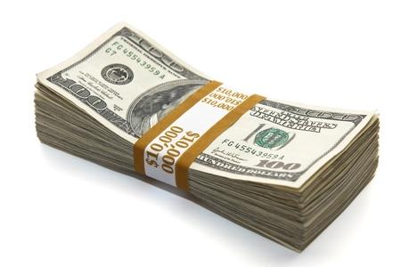 dolar: diez mil dólares Foto de archivo