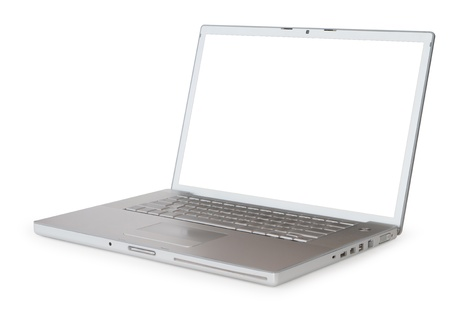 laptop over white background photo