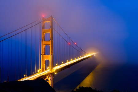 Golden Gate Bridge in fog photo
