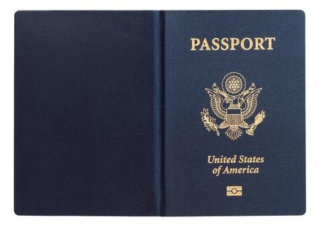 op maat: Amerikaans paspoort Stockfoto