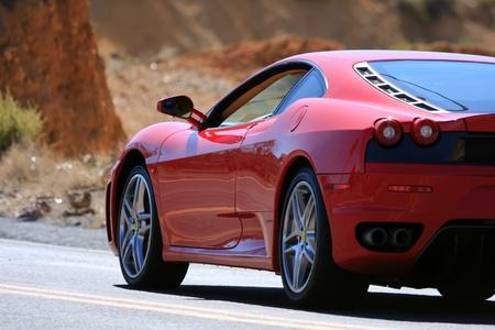 red sports car: sports car Editorial