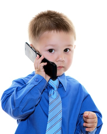 boy with phone Stock Photo - 16662244