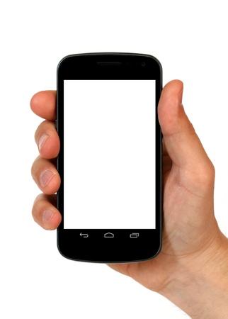 smart phone in hand Stock Photo - 13188237