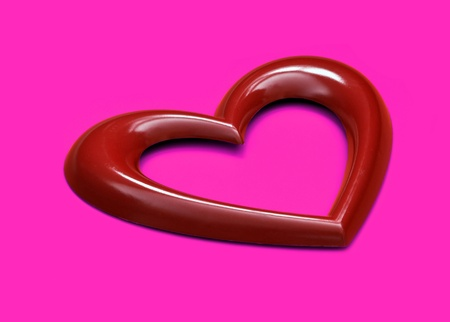 heart shape over pink background photo