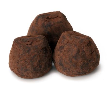 chocolate truffle: Chocolate truffle candy Stock Photo