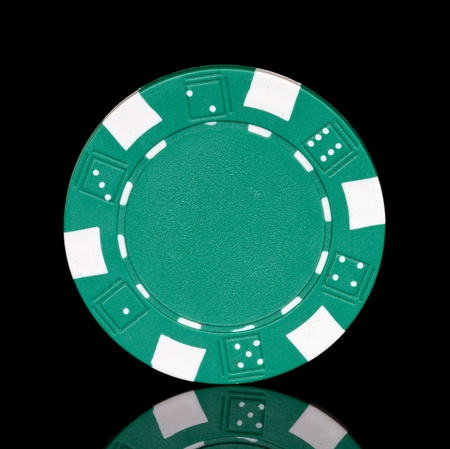 green poker chip photo