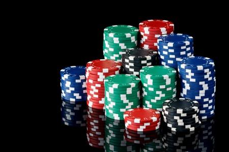stacks of poker chips Reklamní fotografie