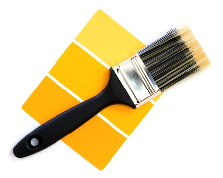 yellow color swatch with paintbrush