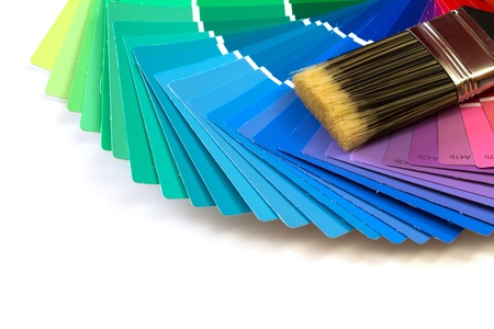 swatches: paint brush with paint swatches