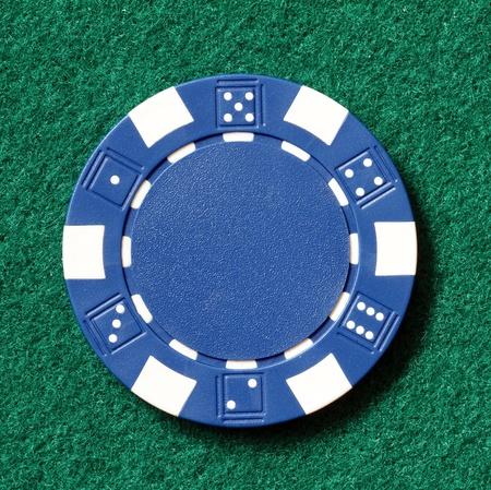 poker chip: blue poker chip