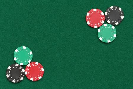 jetons poker: jetons de poker plus de disposition de table Banque d'images