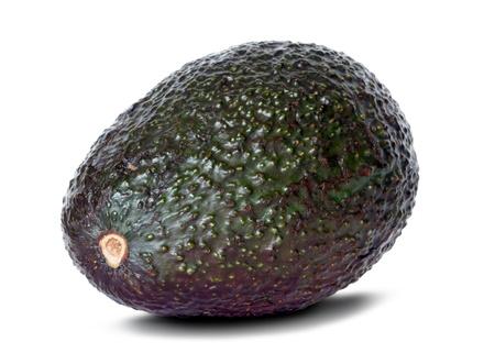 avocado over white background