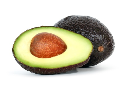 avocado: avocado su sfondo bianco