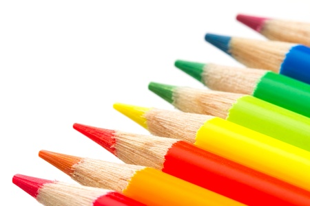 colorful pencils isolated on white background  photo