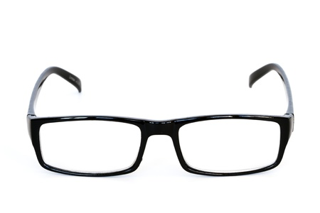 reading glasses isolated on white  photo