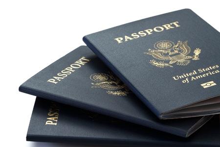 pasaporte: nosotros los pasaportes Foto de archivo