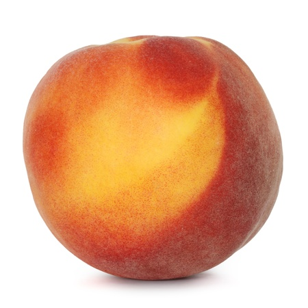 peach on white background 版權商用圖片