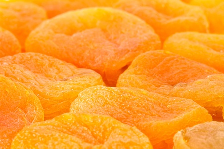 background of dried apricots photo