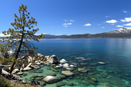 sand harbor: Lake Tahoe Archivio Fotografico