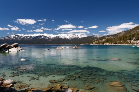 sierra nevada mountains: Lake Tahoe Stock Photo