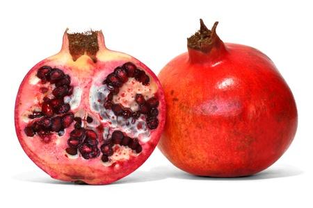 pomegranate over white background  photo