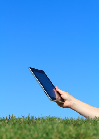 digital tablet outdoors photo