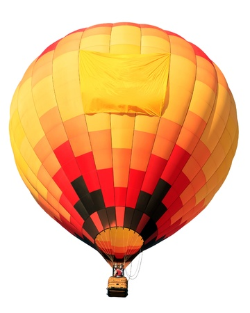 colorful hot air balloon isolated on white background photo