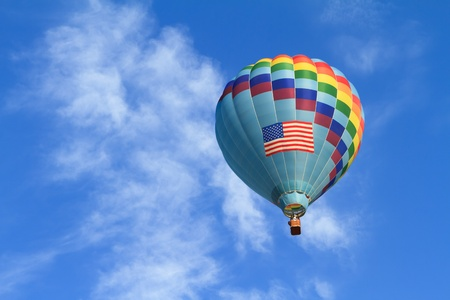 hot air balloon with us flag photo
