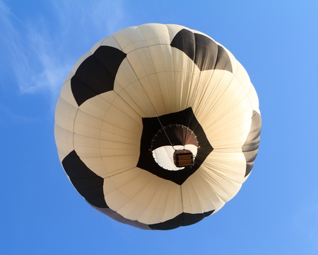 hot air balloon in shape of soccer ball photo