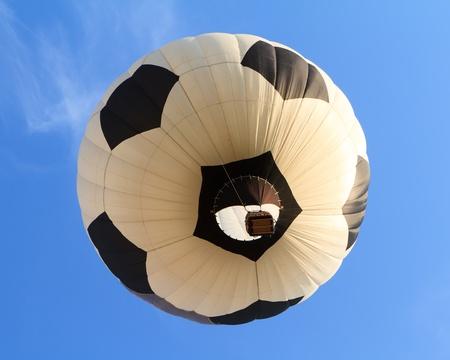 hot air balloon in shape of soccer ball photo