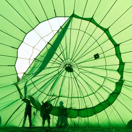 air: fixing hot air balloon Stock Photo