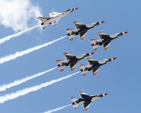 Air Force Demonstration Team Thunderbirds Stock Photo - 13372697