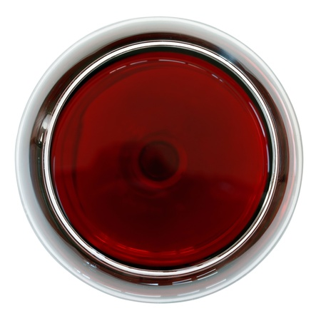 wine red: glass of red wine isolated on white background