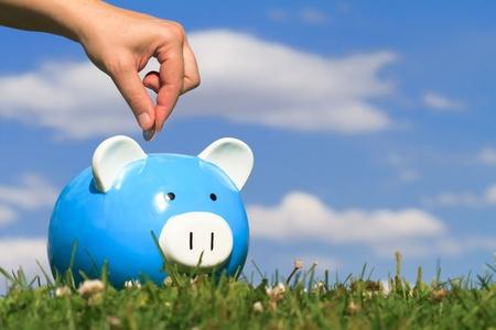 concept van besparingen Stockfoto