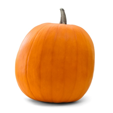 pumpkin over white background with clipping path Stock Photo - 13367091