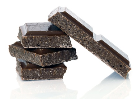 candy bar: chocolate bars over white background Stock Photo