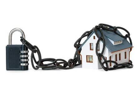 home protection: house security concept