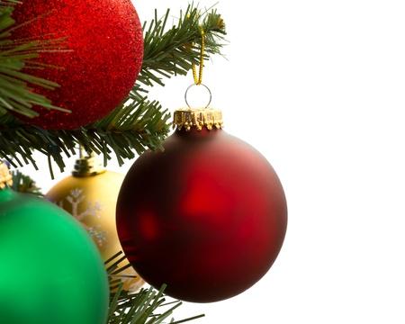 Decorazioni natalizie con spazio per il testo Archivio Fotografico - 13367143