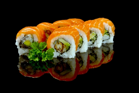 lunch tray: sushi Stock Photo