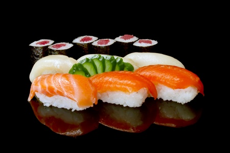 set of japanese sushi  photo