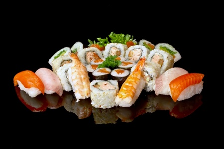 japanese dessert: set of sushi