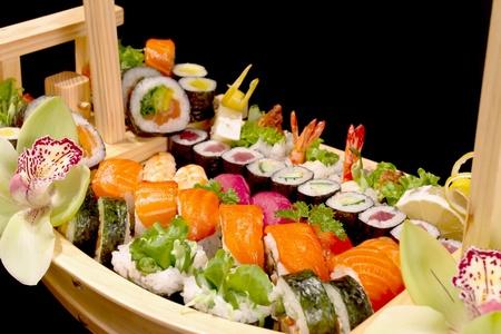 sushi boat Stock Photo