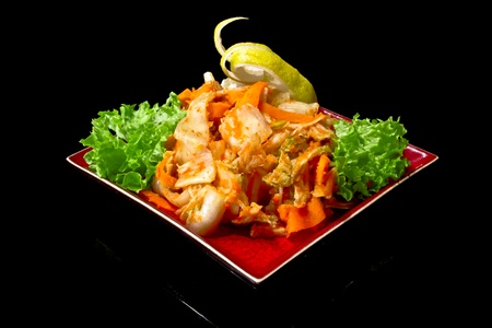 party tray: Japanese seafood salad Stock Photo