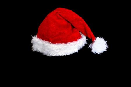 산타 모자: 텍스트에 대 한 공간을 가진 산타 클로스 모자