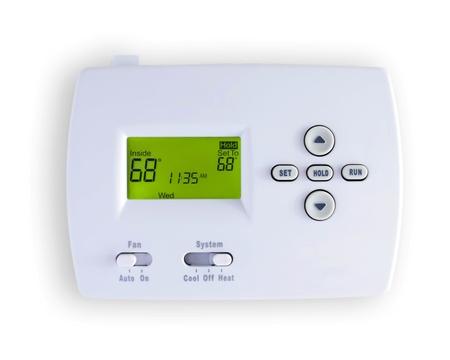 thermostat: digital thermostat Stock Photo
