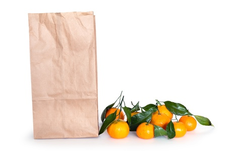 tangerines and paper shopping bag  Stock Photo - 13520872